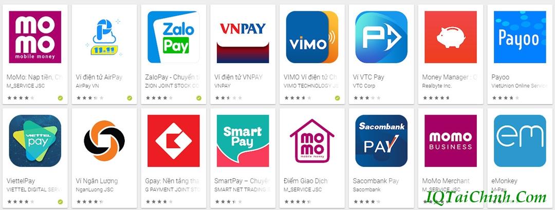 thanh toán vay tiền online qua ví điện tử